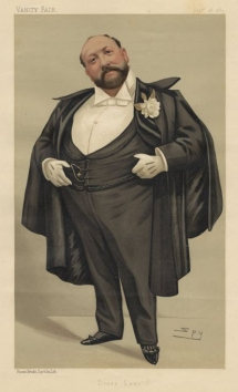 Mr Augustus Harris by Spy. Vanity Fair, 28 September 1889.