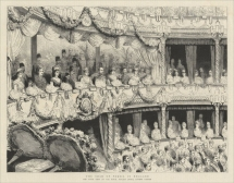 'The Shah of Persia in England. The State Visit to the Royal Italian Opera, Covent Garden.'  The Graphic, 13 July 1889.