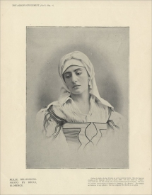 Gemma Bellincioni (1864-1950) created the role of Santuzza in Cavalleria Rusticana which she also sang in London in 1895.  She also appeared as Carmen in the same season.