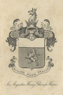 Harris's bookplate.