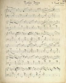 Pyrrhic Dance.  Autograph manuscript, 1912, of the Caprice Fantastique.  Royal College of Music, London.