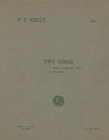 Two Songs, Op.1. London, 1912.