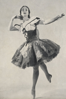 Mona Inglesby as Swanhilda in Coppelia Act I.