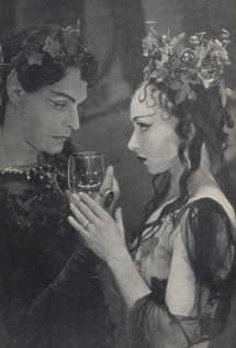 Anthony Eustrel as Comus and Mona Inglesby as Cotytto in The Masque of Comus.