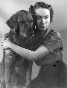 Mona Inglesby with her faithful dog Copper.