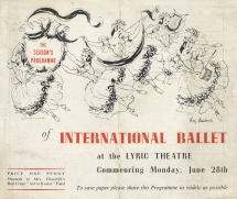 Flyer for the Lyric Theatre, London with drawings by Kay Ambrose.