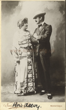 Melba with her friend John Gorman Ford. Photograph by Numa Blanc fils, Monte Carlo, [1904]. Melba is shown in her costume as Helen of Troy in Saint-Saëns's opera Hélène first performed in Monte Carlo, 18 February 1904.