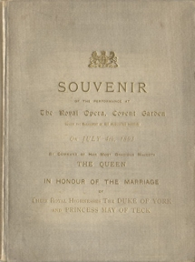 Souvenir of the Performance at the Royal Opera House, Covent Garden on 4 July 1893. Melba and the de Reszke brothers formed a legendary trio, active at Covent Garden and elsewhere from 1888 to 1900.