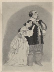 Grisi and Luigi Lablache in I Puritani. Lithograph by R. J. Lane after A. E. Chalon. Publ. J. Mitchell, London, 1 January 1836.