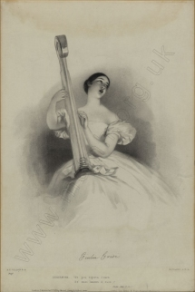 Grisi as Desdemona in Rossini's Otello.  Lithograph by R. J. Lane after A. E. Chalon. Publ. J. Mitchell, London, 1 January 1836.