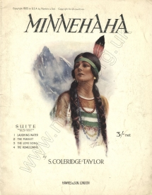 Coleridge-Taylor: Minnehaha.  Suite from the Hiawatha Ballet Music.  [Arranged and orchestrated by Percy E.Fletcher.]  Piano score.  London, 1925.