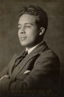 Hiawatha Brian Coleridge-Taylor (1900-1980), the composer's son, who edited and conducted the ballet music for the 1924 season.  Royal College of Music, London.