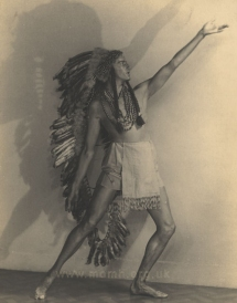 Aubrey Hitchins as the Spirit of Montezuma (the Young Chief) in the 'Heavenly Ballet' in Act I.