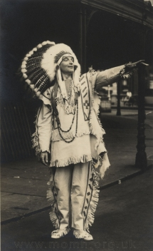Henry Wendon in costume as Chibiabos, 1934.