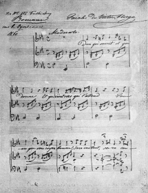 Manuscript of the song Dieu qui sourit to words by Victor Hugo. Facsimile, 1913.
