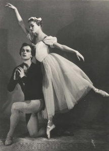 As Albrecht in Giselle with Irina Kolpakova, Kirov Ballet, 1959. Photograph by M. Gershman.