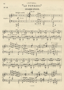 Schulhoff: Le Tournoi, grande étude, Op.12.  Late edition (London, 1878) of a concert study dedicated to Alkan which probably received its first performance in the present concert.