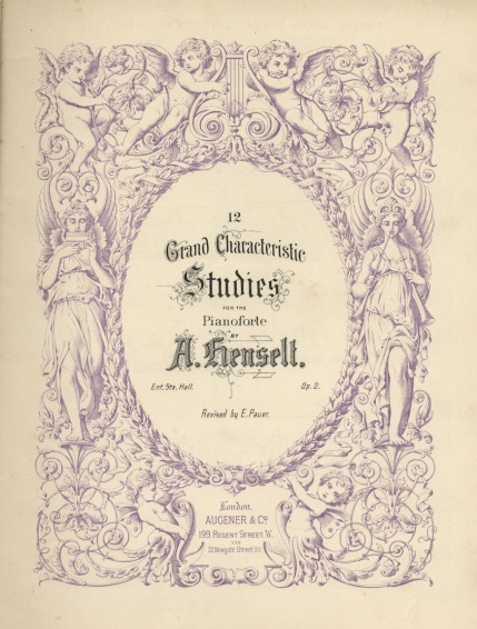 12 Grand Characteristic Studies, Op.2. A late nineteenth century English edition, edited by the distinguished teacher Ernst Pauer. London, [1880].