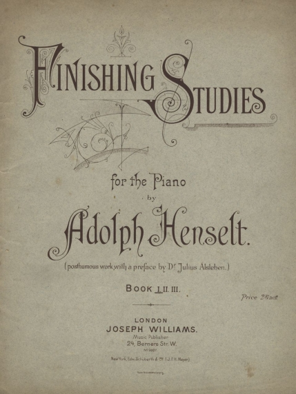 Finishing Studies for the Piano.  London, [1894].