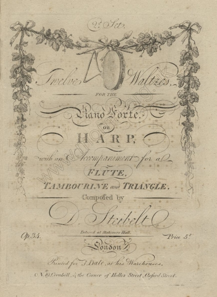 Twelve Waltzes, Op.34. London, [1798].