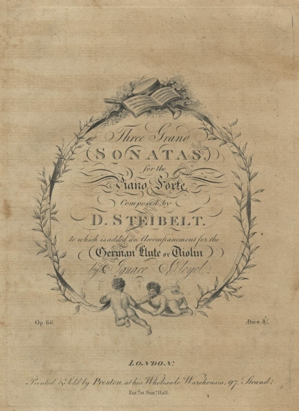 Three Grand Sonatas, Op.66. London, [1807].  First published by Dale in 1802.