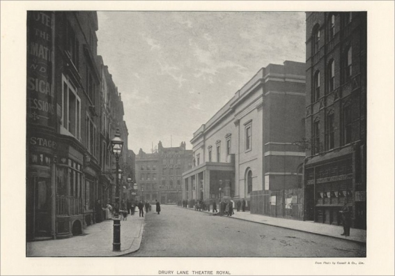 The Theatre Royal, Drury Lane as it looked in 1896.  Photograph by Cassell & Co.