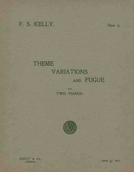 Theme, Variations and Fugue, Op.5.  London, 1913.