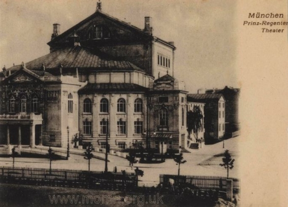 The Prinzregententheater, Munich circa 1920, and much as it must have looked for the premiere of Palestrina. The Brendan G Carroll Collection.