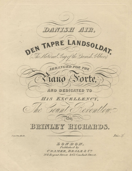 Danish Air, Den tapre Landsoldat.  London, [1841].