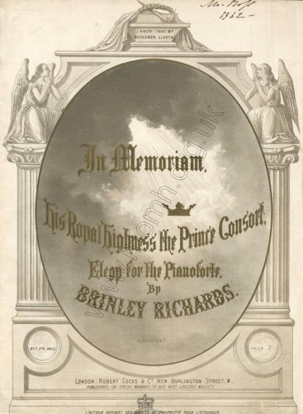 In Memoriam His Royal Highness the Prince Consort. Elegy for the Pianoforte. London, [1862].