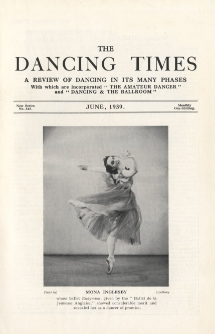Mona Inglesby aged 21 in her own ballet Endymion. Courtesy of The Dancing Times.