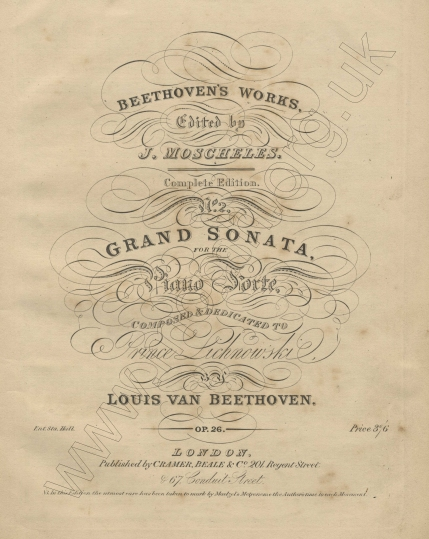 Beethoven Works edited by J. Moscheles. Complete Edition. London, [1834 onwards].