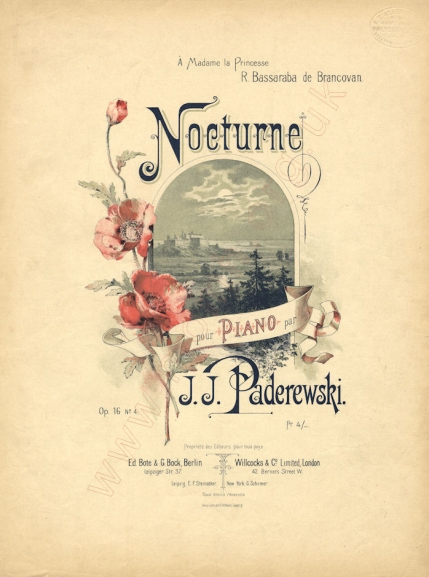 Nocturne, Op.16, No.4. Berlin/London, [1892].