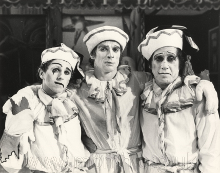 Left to right: Wayne Sleep, Nureyev and Alexander Grant, all of whom danced Petrushka at Covent Garden.