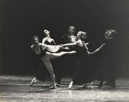 Palais des Sports, Paris Opera Ballet, Manfred, ballet in four tableaux (Tchaikovsky/Nureyev), premièred 20 November 1979. Due to injury Nureyev did not appear in this major work until 15 December 1979. Photograph by Enid Theobald.