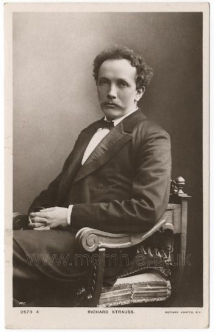Richard Strauss. Postcard photograph by Rotary Photographic Co., London. [c.1905].