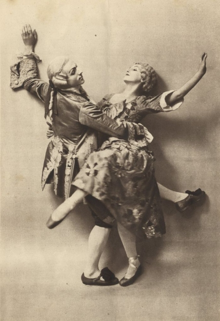 Léonide Massine and Tamara Karsavina in The Good-Humoured Ladies.  Ballets Russes Season, London, 1919.
