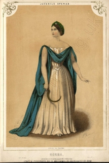 Giulia Grisi as Norma in Bellini's Norma. First published by Leader & Cock in 1855.