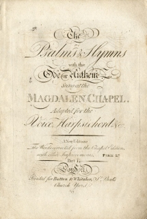 The Psalms & Hymns sung at the Magdalen Chapel
