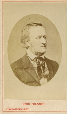 Wagner. Photograph by The London Stereoscopic Company. [c.1870]. Peter Joslin Collection.
