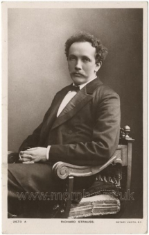 Richard Strauss (1864-1949). Postcard photograph by Rotary Photographic Company, London. [c.1900].
