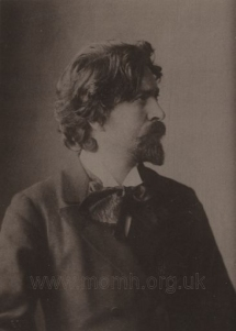 Anonymous photograph, c.1895.  Busoni wore a beard from young manhood to 1903; these were the years in which he established his reputation as a leading virtuoso pianist.
