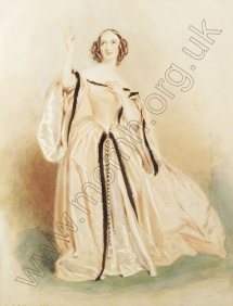 Fanny Persiani as Lucia in Donizetti's Lucia di Lammermoor.  Watercolour by Alfred Edward Chalon (1780-1860). [c.1838].  Royal College of Music Collection / ArenaPAL. www.arenapal.com