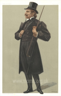 Edmond Rostand. Chromolithograph caricature by Jean Baptiste Guth, 1900. From Vanity Fair, London, 20 June 1901.