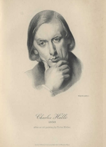 Charles Hallé. Lithograph by Walker & Bentall after an oil portrait by Victor Mottez. Plate from Life and Letters of Sir Charles Hallé, London, 1896.