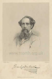 Stipple engraving by Joseph Brown, published by Chapman & Hall, after John Watkins. [1860s].
