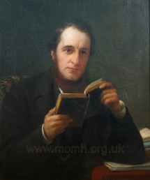 George Grove.  Oil on canvas by Henry Wyndham Phillips, 1861.