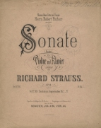 Richard Strauss: Sonata for violin and piano, Op.18.  Munich, 1890.  The sonata was composed in 1887.