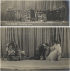 The Immortal Hour. Postcard photographs of the first two scenes in the Glastonbury production.