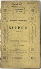 Sappho. Libretto. London, [1843].